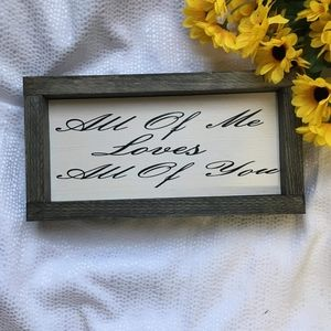 Hand Crafted | Love Wall Sign / Home Decor